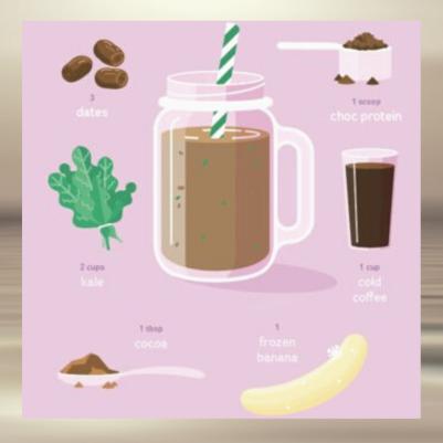 mocha protein smoothie