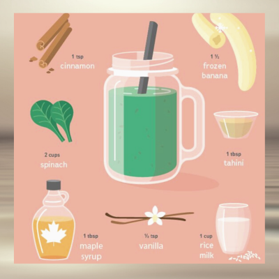 Green Horchata smoothie
